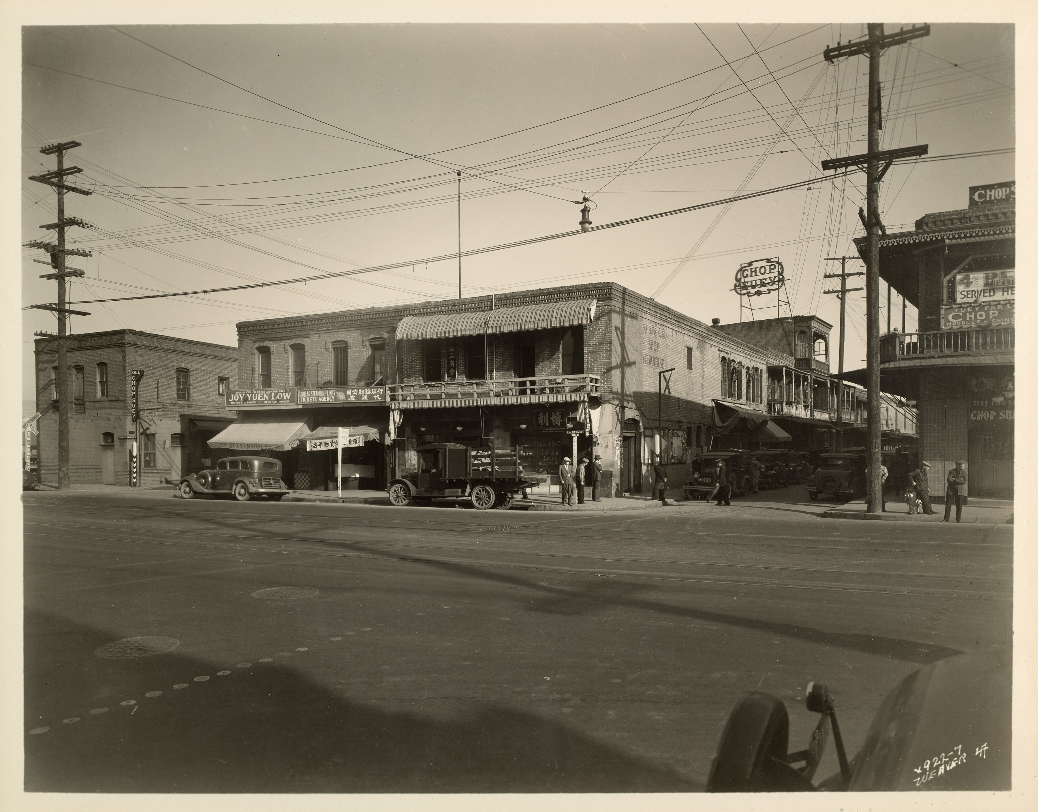Old Chinatown, around the intersection of Alameda and Marchessault Streets (early 1930s)