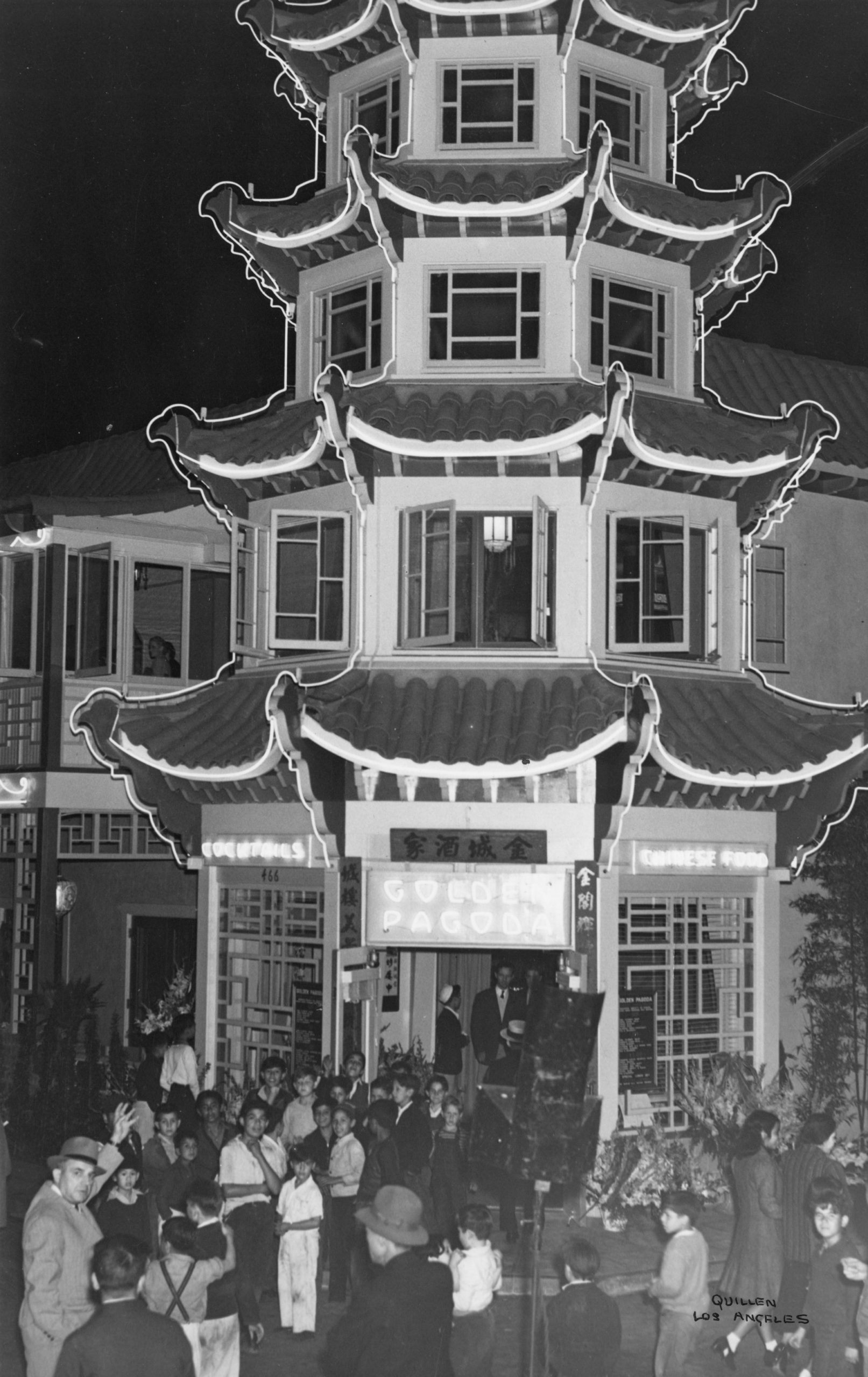 The Golden Pagoda building, later Hop Louie (1940s)