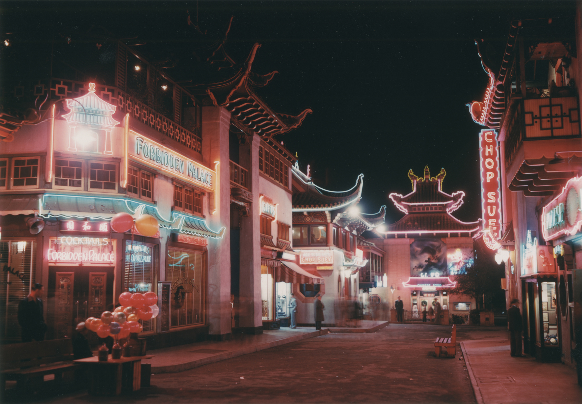 Chinatown Central Plaza by night (c. 1940)