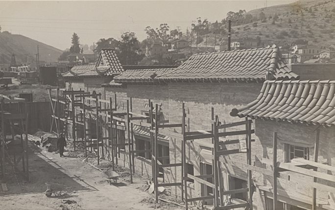 Construction of New Chinatown (1938)